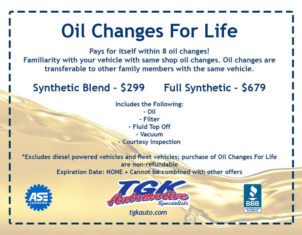 Oil Changes for Life