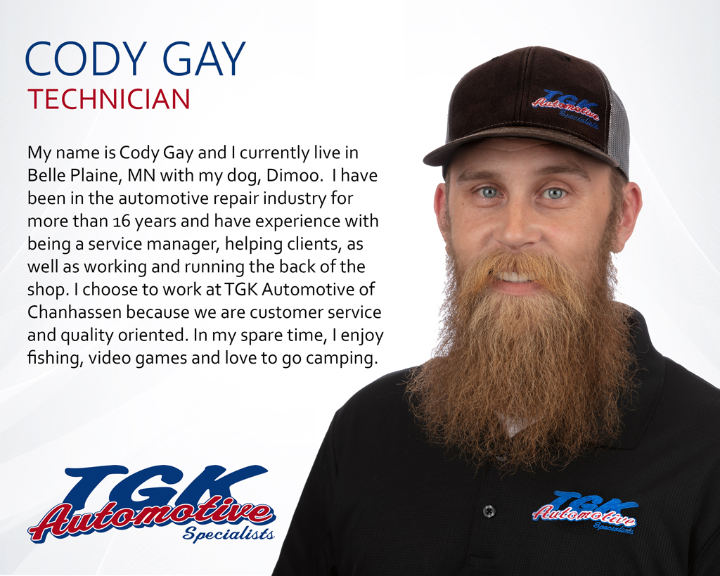 CODY GAY, TECHNICIAN