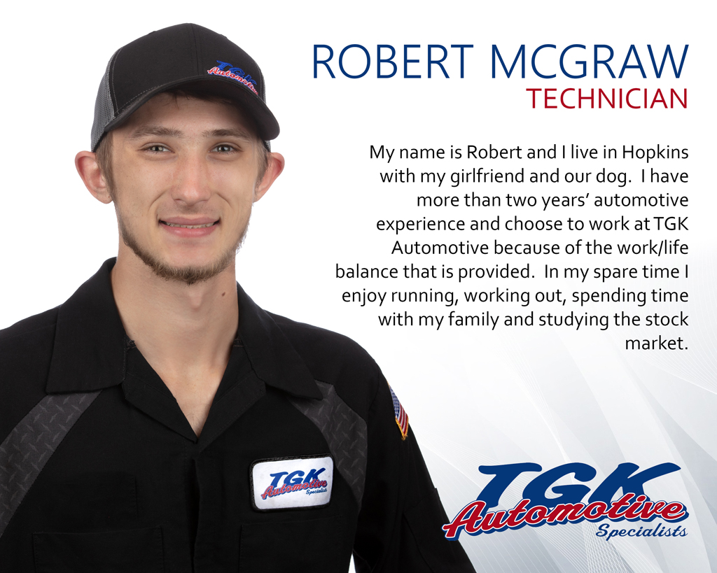ROBERT McGRAW, TECHNICIAN