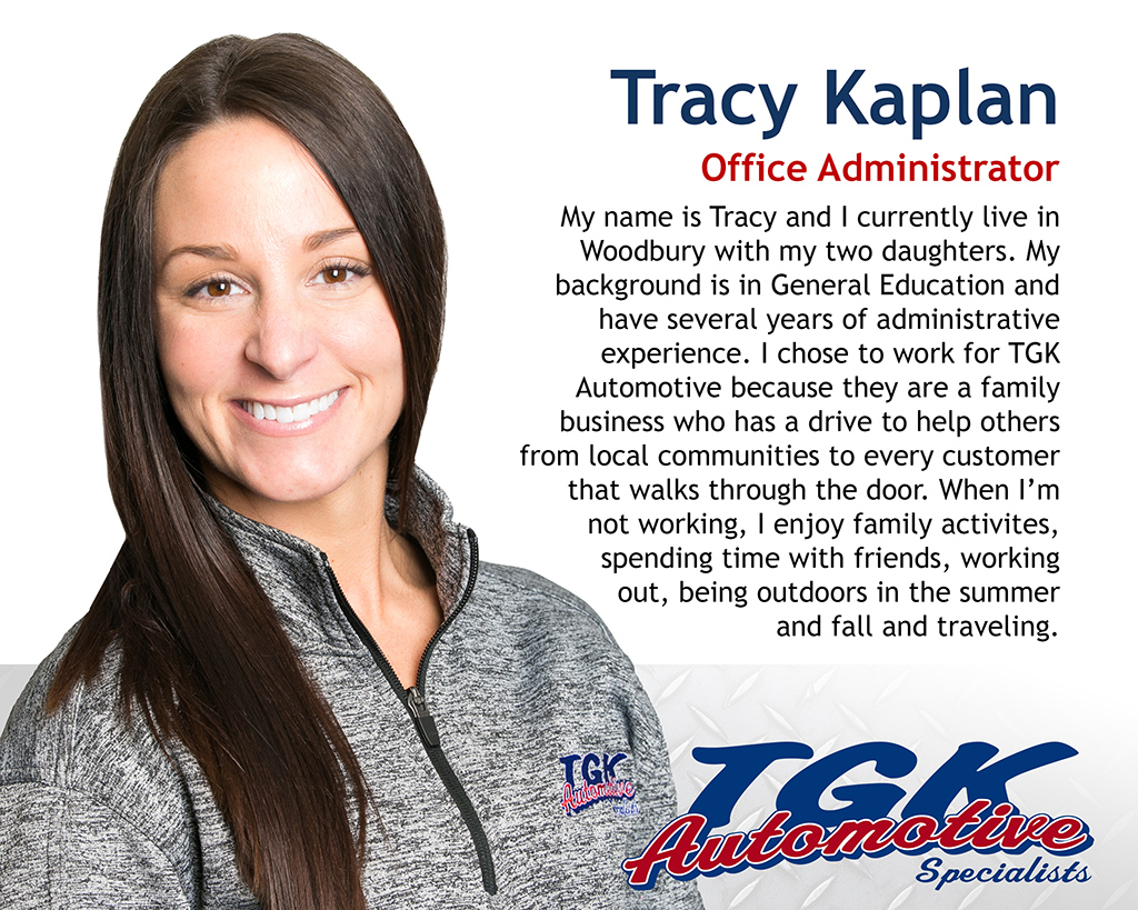 Tracy Kaplan, Office Administrator