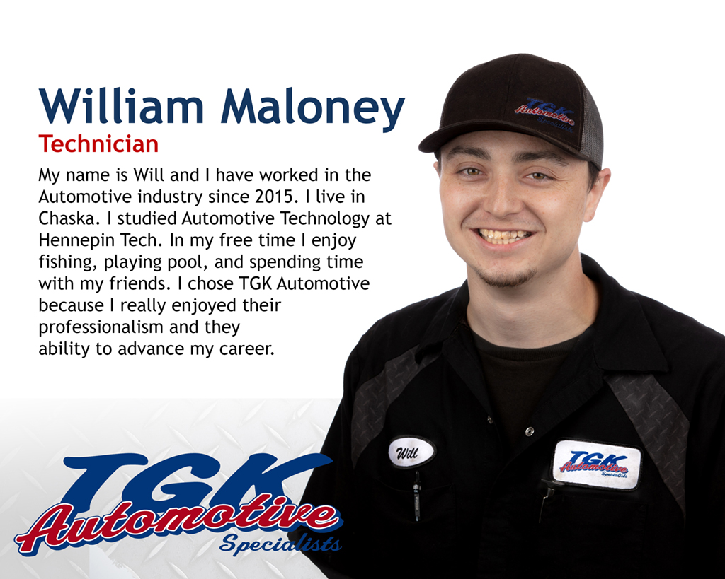 WILL MALONEY, TECHNICIAN