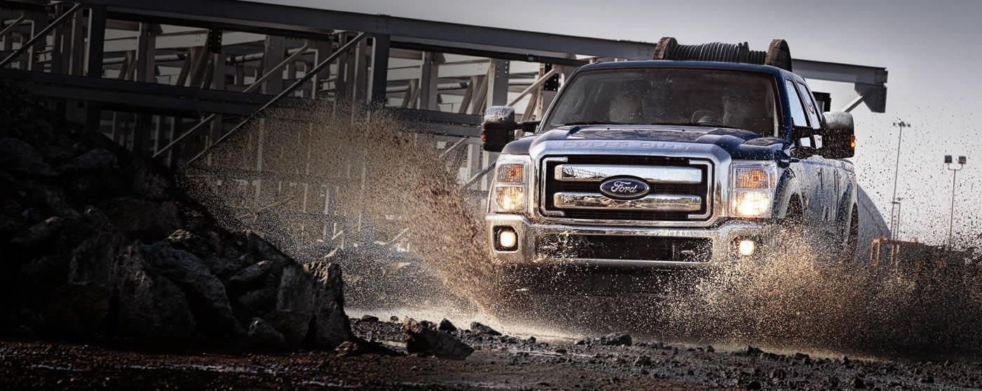 ford truck through mud
